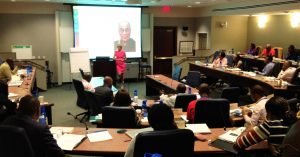 Caroline teaches about grit, goals and flourishing in the Wharton Executive MBA program at the University of Pennsylvania
