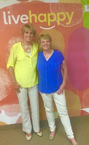 Caroline Miller and Deb Heisz at Live Happy offices in Addison, TX