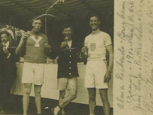 Jim Thorpe & Platt on Olympic boat