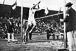 Platt Adams does standing high jump