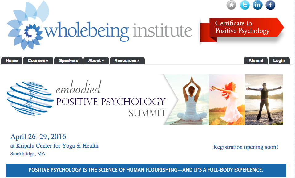Wholebeing Institute » Embodied Positive Psychology Summit Agenda